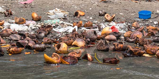 afval zee