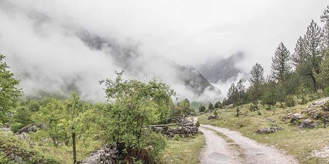 wandelen albanie