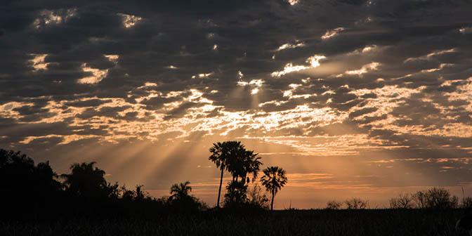 zonsondergang nationaal park
