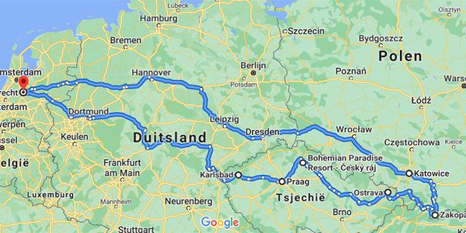 route tsjechie polen