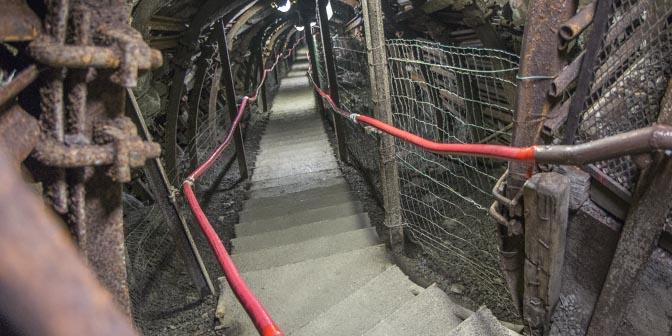 ondergrondse steenkoolmijn