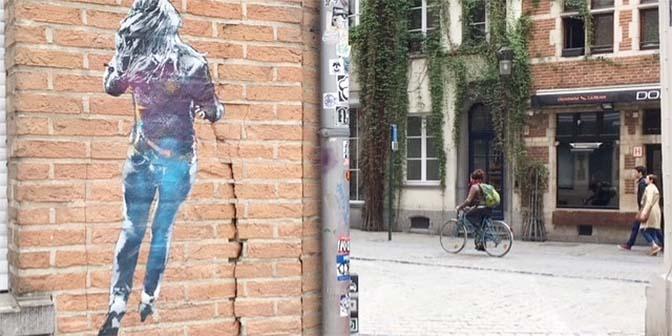 street art brussel belgie