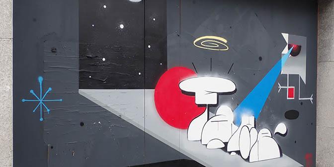 ufo mural mons belgie