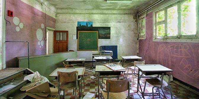 verlaten school vlaanderen