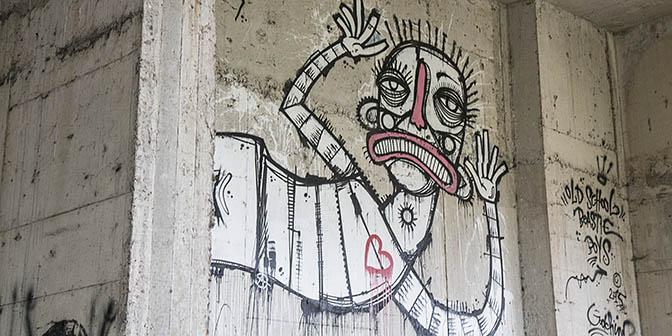 mural swamp hotel street art