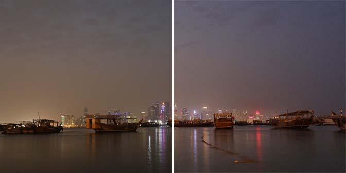 nachtfotografie witbalans aanpassen