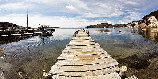 lake titicaca fisheye