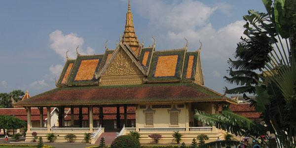 het Royal Palace in Phnom Penh Cambodja