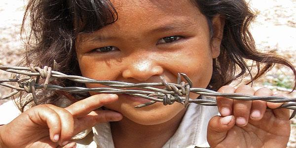 meisje in Cambodja