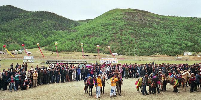zhongdian paardenfestival