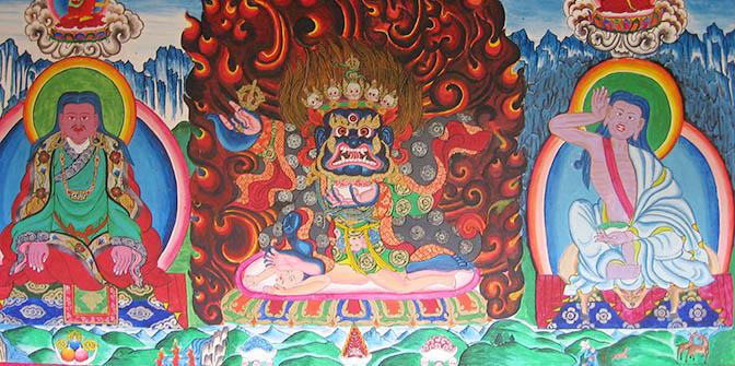 tibetaans fresco