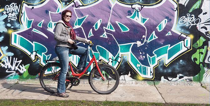 fietsen berlijn muur