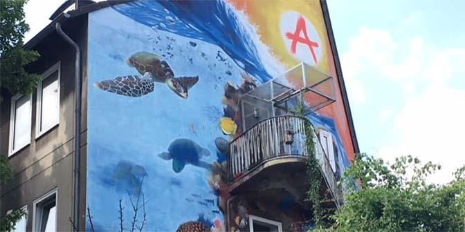 street art onderwater