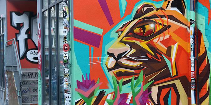 street art leeuw