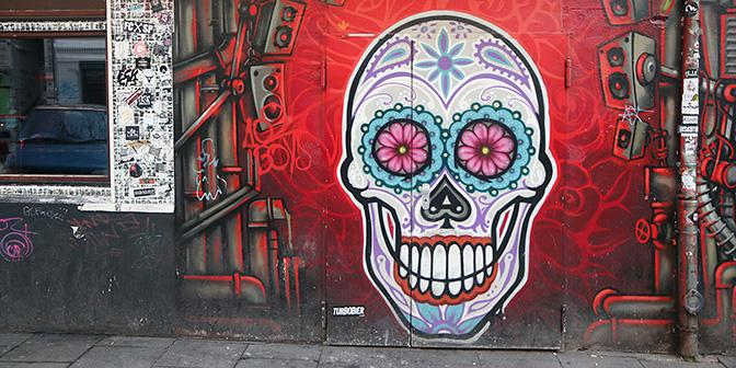street art schedel