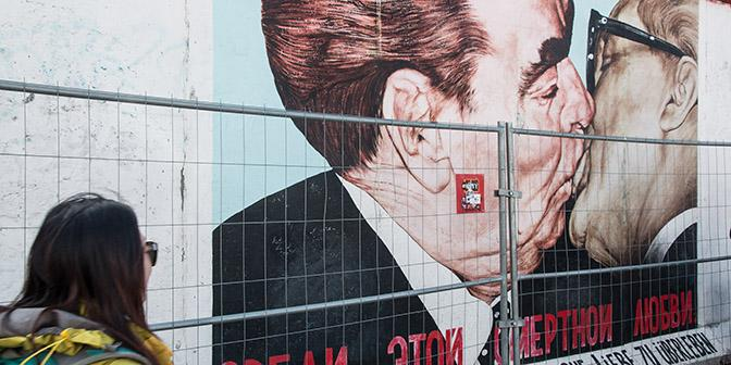 street art Dmitri Vrubel muur