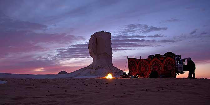 kamperen woestijn egypte