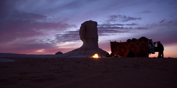 kamperen woestijn