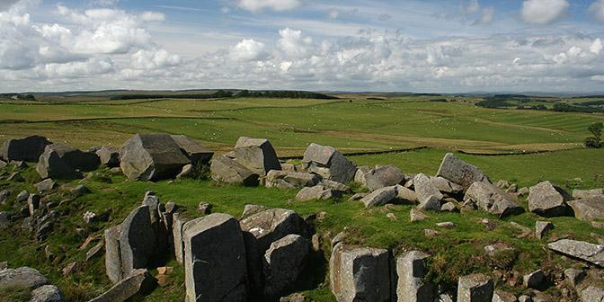 hadrians wall landschap