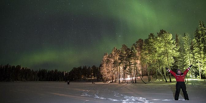 finland noorderlicht winter