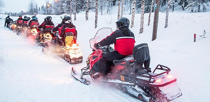 winterpost finland sneeuwscooter