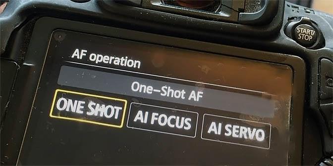 scherpstellen modus camera