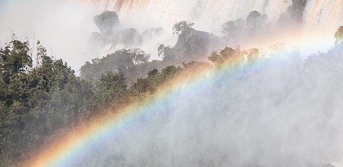 fotogreren regenboog waterval