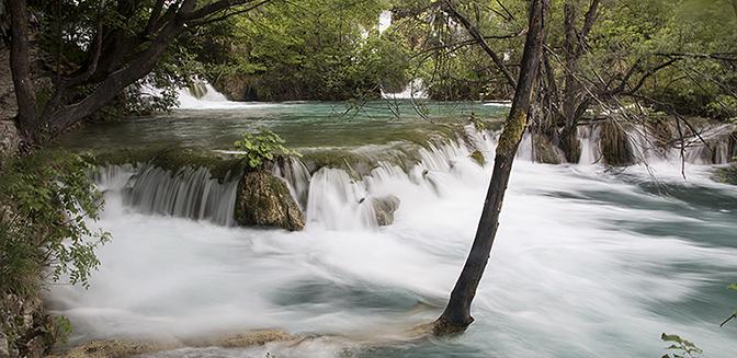 waterval sluitertijd lang
