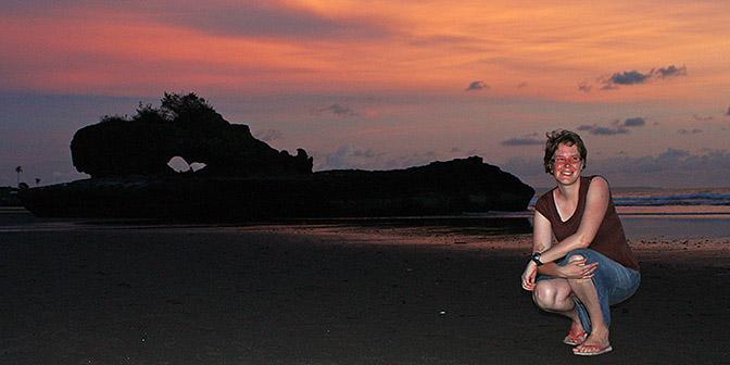flitsen bij zonsondergang