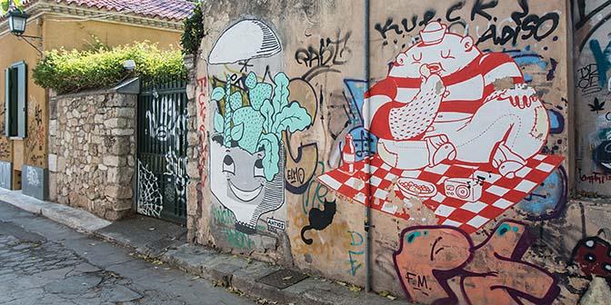 street art anafiotika athene