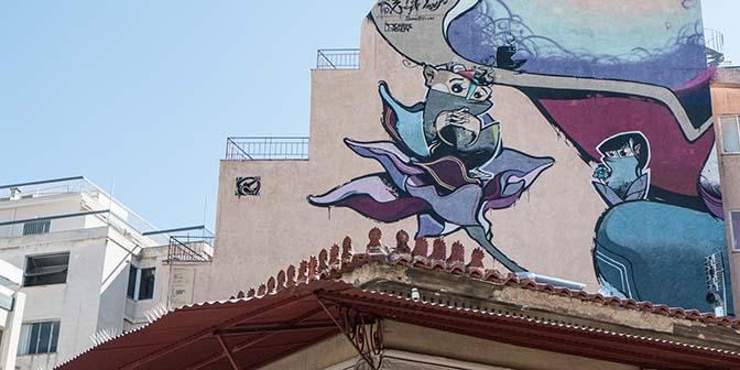 street art carpe diem athene