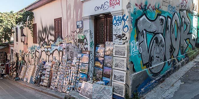 anafiotika akropolis street art