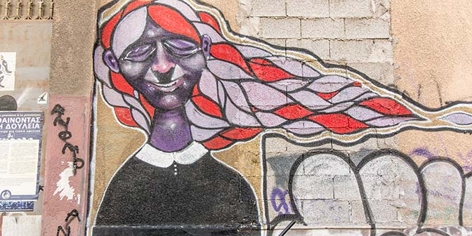 mota street art athene griekenland