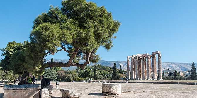 tempel olympische zeus athene