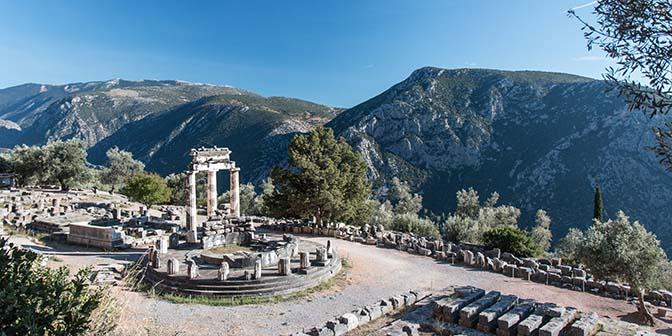 tempel athene delphi griekenland