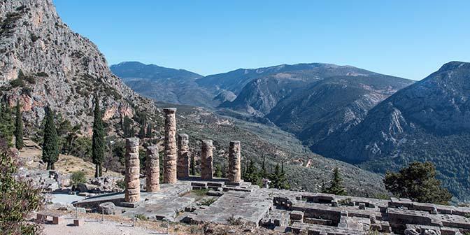 archeologische site delphi griekenland