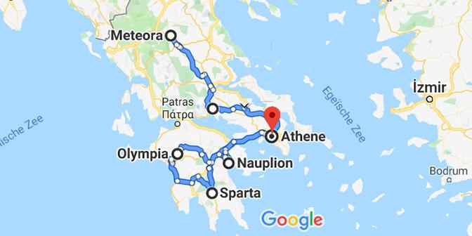noord-griekenland kaart