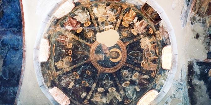 fresco kerk griekenland