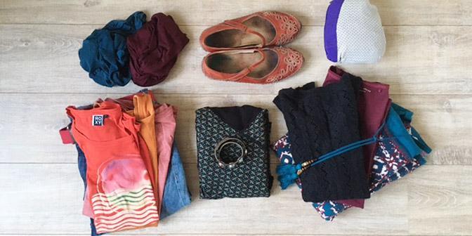 handbagage kleding op reis