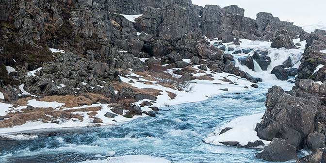 ijsland waterval gouden cirkel