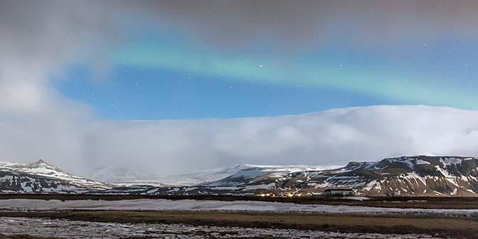 noorderlicht ijsland wolken