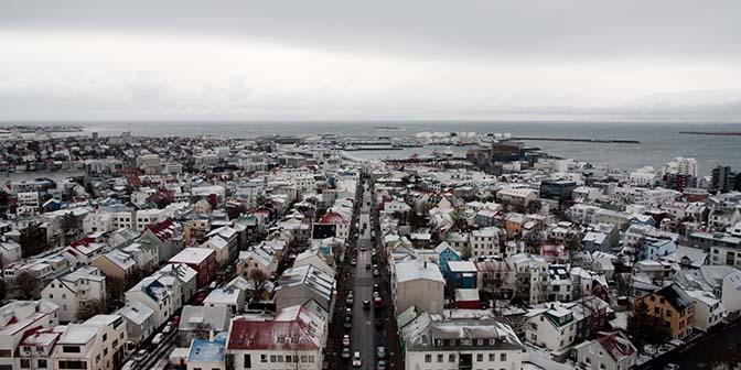 uitzicht hallgrimskirkja reykjavik