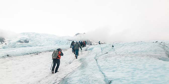 gletsjerwandeling skaftafell winter