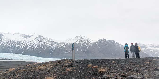 trekking skaftafell ijsland