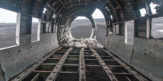 vliegtuig urbex ijsland