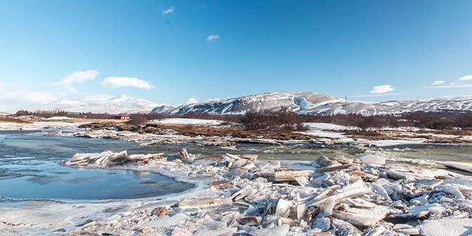 westen ijsland winter