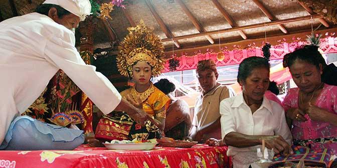 versiering bruiloft bali