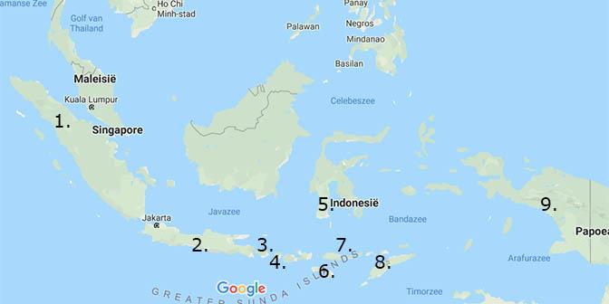 backpack route indonesie kaart