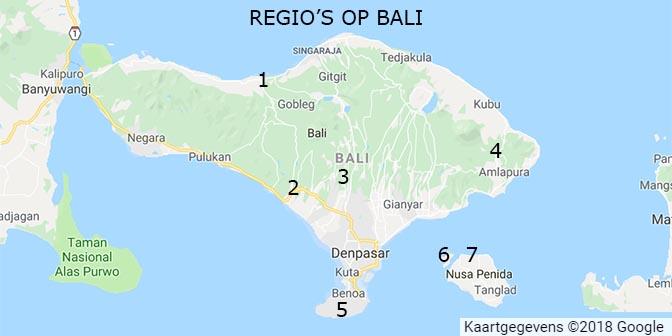 bali kaart indonesie