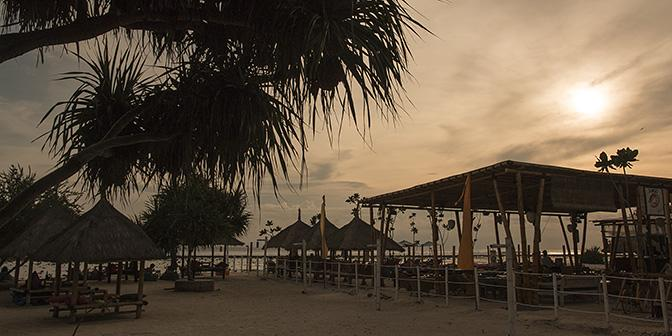 zonsondergang gili indonesie